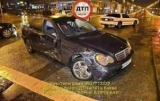 В центре Киева Mercedes в неверными протаранил два авто
